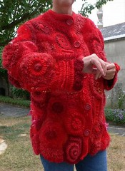 veste free form crochet / jacket photo by coutureuse