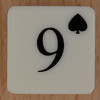 Playing Card Tile 9 of Spades