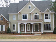 Hardiplank Siding and Copper Porch Roof photo by CrownBuilders