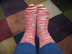 Chaos Theory socks finished!