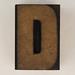 wood type letter D