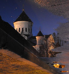 Reflections on the streets of Vilnius photo by Janina Leonaviciene