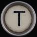typewriter key letter T