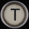 typewriter key letter T
