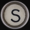 typewriter key letter S