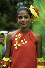 Miss Goa 2009 ! Portrait of a colorful girl at Bonderam in August 2009. photo by Anoop Negi