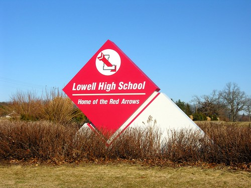 Lowell MI High School Sign
