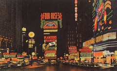 Times Square 1930s Postcard Vintage New York City photo by Christian Montone