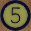 Colour Bingo yellow number 5