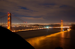 The Golden Gate Bridge at night photo by Images by John 'K'