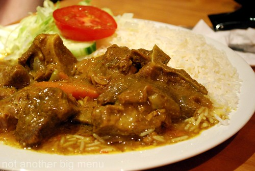 Jerk City - Curry mutton with plain rice £8.50 (large)
