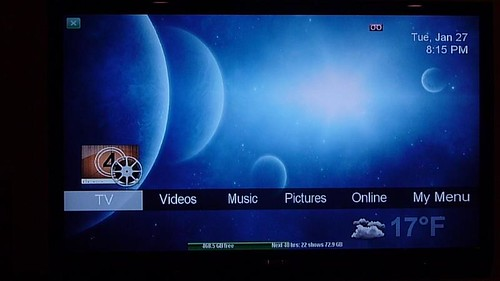 SageTV Menu with nBlue Theme