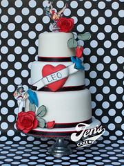 Sailor Jerry Tattoo Cake photo by Jen's Cakery