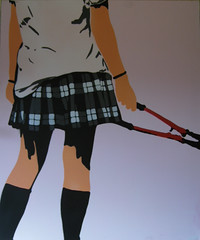 GIRLS CAN BE VANDALS TOO (stencil on canvas) photo by T ☆ 3