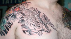 New ink - Swooping Owl Tattoo photo by 10%bigger