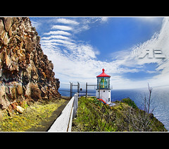 Makapu'u Lighthouse Fisheye photo by Ryan Eng