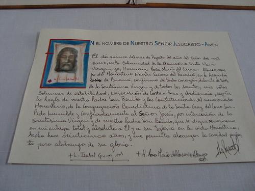 Formula jubilatoria Hermana María Rosa