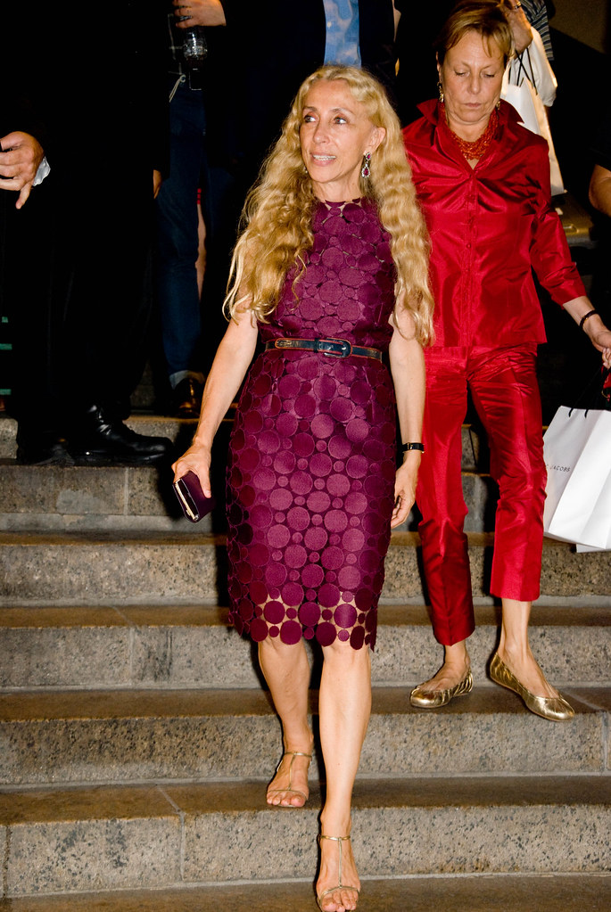 Franca Sozzani of Italian Vogue, Marc Jacobs Show