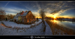 One year on flickr ! - Cold sunset @ Zennegat, Mechelen, Belgium :: HDR :: Panorama photo by Erroba