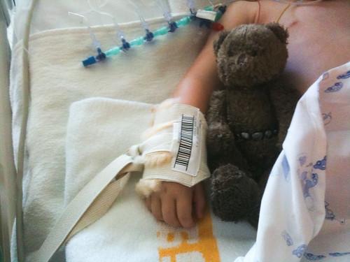 Anna in het hospitaal