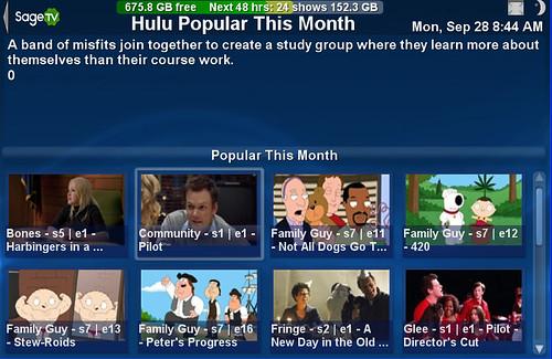 SageTV Hulu