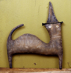 Extreme Primitive Halloween Cat Doll photo by oldworldprimitives