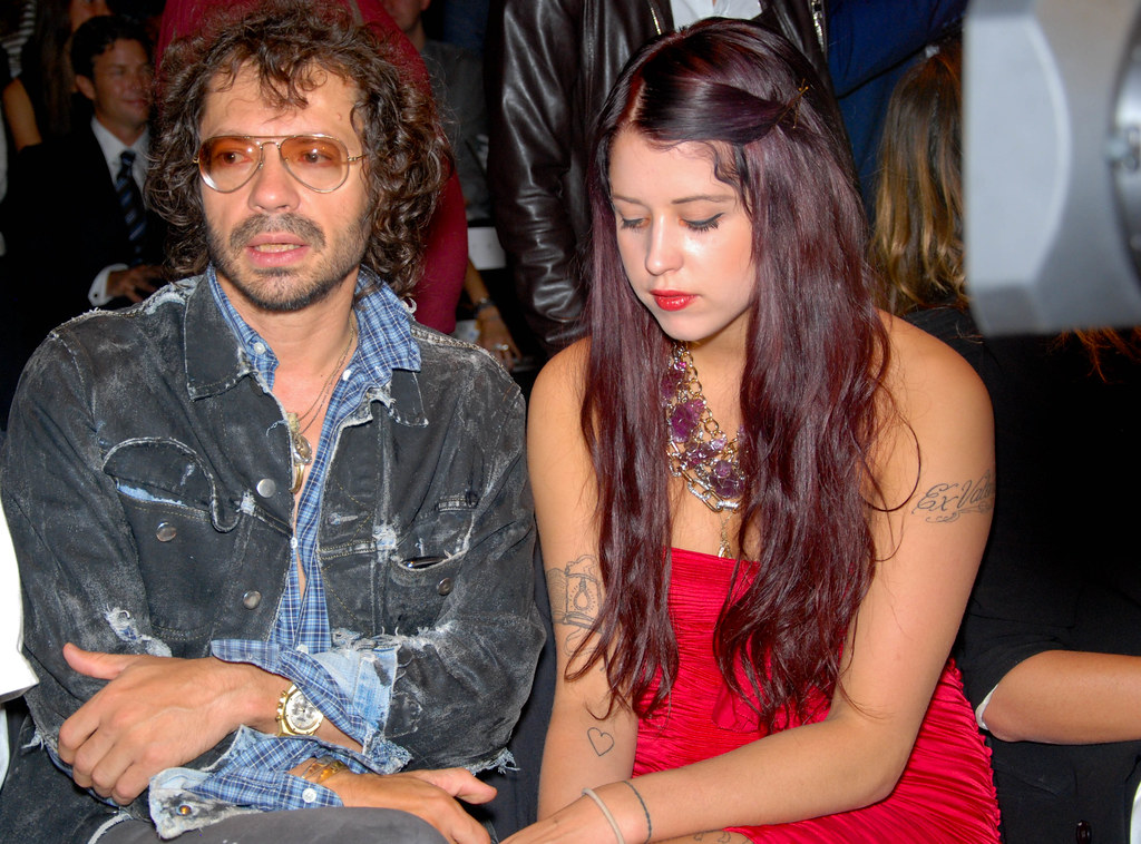 Olivier Zahm and Peaches Geldof, Diane von Furstenberg Front Row