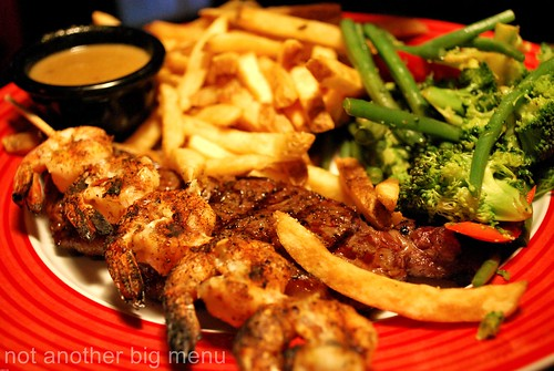 TGI Covent Garden - sirloin surf 'n' turf