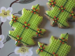 Plaid Oak Leaf Cookies photo by drakegore