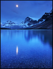 Nightfall @ Bow Lake photo by Sandra OTR
