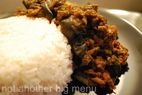 Aubergine and minced pork