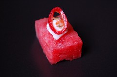 watermelon cubes with marinated fetta© by haalo