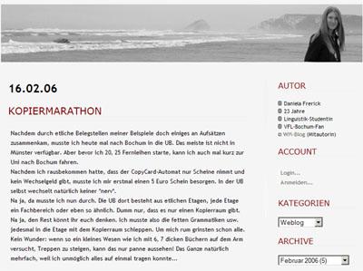 Daniela Frerick's Weblog