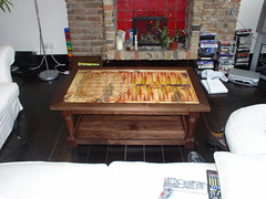 American Black Walnut Games Coffee Table