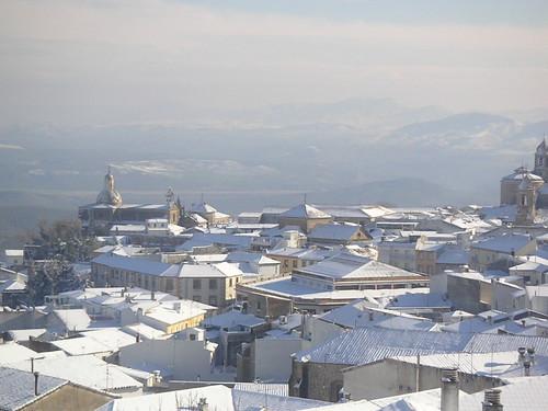 Vista desde mi habitación un día de nieve (Úbeda, Jaén)