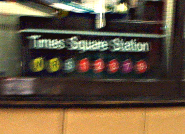 Not taken at Times Square Station