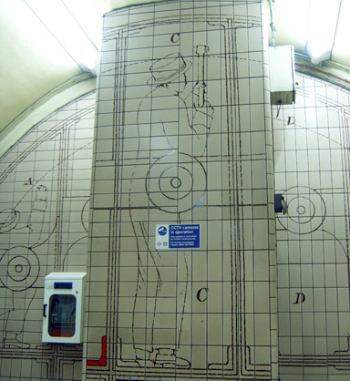 London Underground Station Tiles