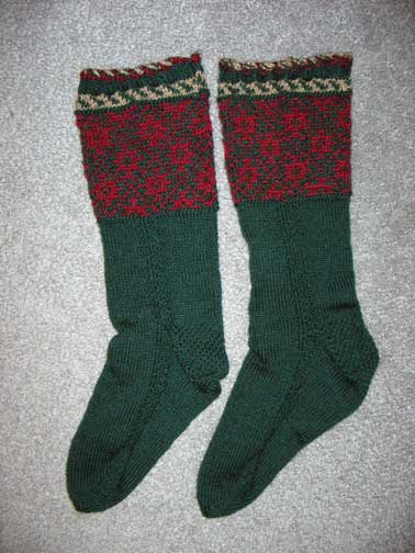 Canada socks from Knitting on the Road