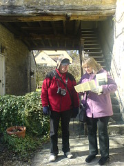 Mum and dad navigating arround Burford