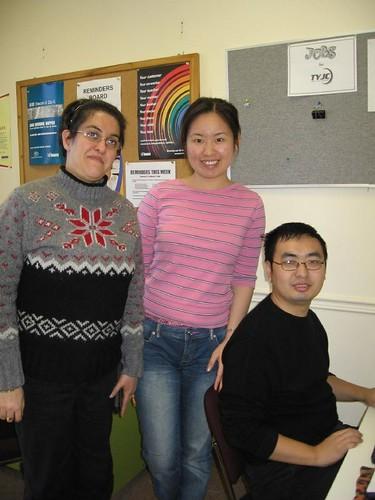 Helya, Janet, and Matthew, St. Christopher House FAPS Volunteers
