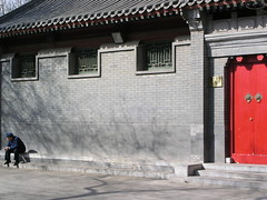 Beijing - Chinese Man & Red Door