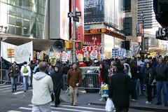 Times Square anti-war rally