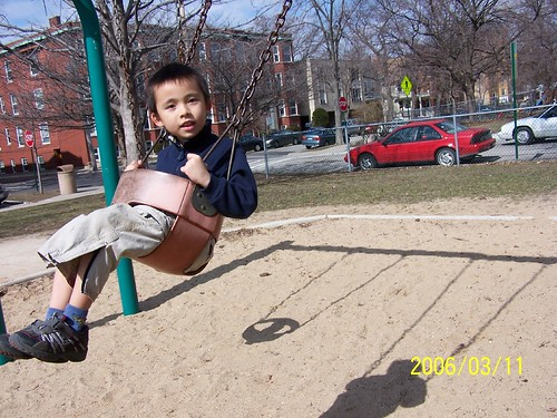 Swinging at Scoville Park