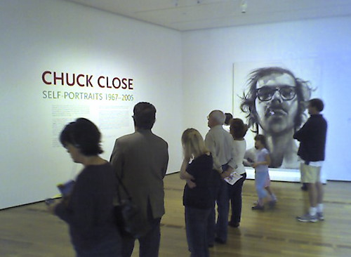Chuck Close exhibit at High Museum of Art.