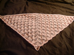 kiri shawl, unblocked