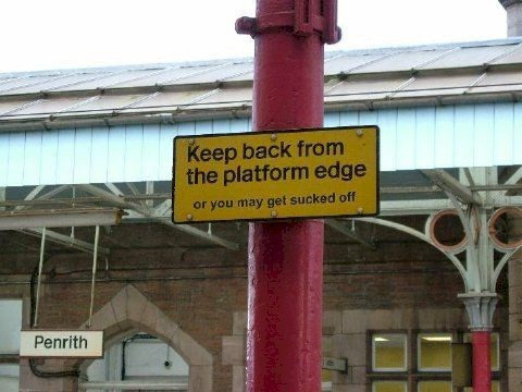 Keep back from the Platform Edge