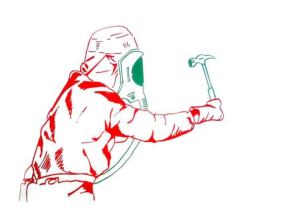 hammer-wielding masked alien