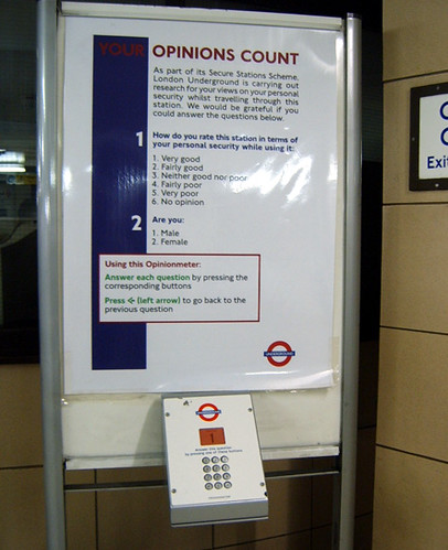 London Underground Opinionmeter