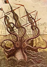 Grabado de un kraken