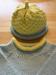 Baby Sweater & Hat Detail